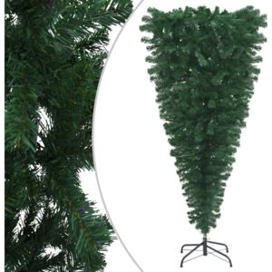 VidaXL Upside-down Artificial Christmas Tree with Stand Green 150 cm