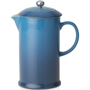 Le Creuset Stoneware Cafetiere With Metal Press Marseille Blue