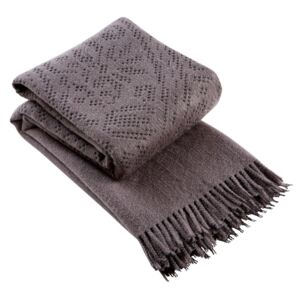 Christy Lace Throw Charcoal