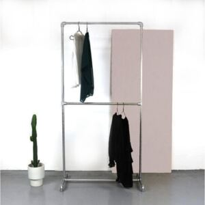 ZIITO D - Clothes rack with two pipes