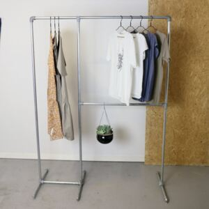 ZIITO DR - Clothes rack with two pipes and long hanging space