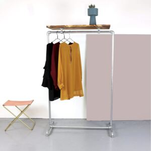 ZIITO WT - Clothes rack with top wooden shelf