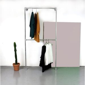 ZIITO W1 - Wall mounted clothes rack with two pipes
