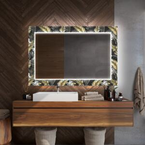 Light up decorative mirror for the bathroom wall