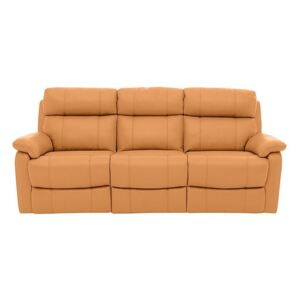 Relax Station Komodo 3 Seater Power Leather Sofa - Yellow- World of Leather