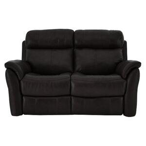 Relax Station Revive 2 Seater Leather Sofa - Black- World of Leather