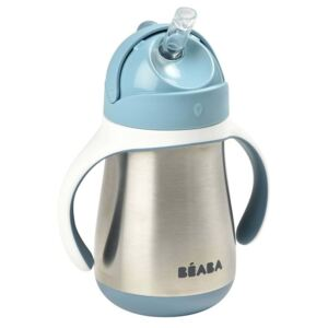 Beaba Stainless Steel Straw Cup 250ml Blue