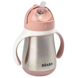 Beaba Stainless Steel Straw Cup 250ml Pink
