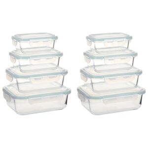 Glass Food Storage Containers 8 Pieces