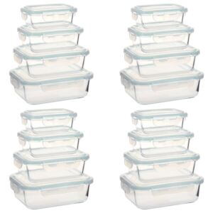Glass Food Storage Containers 16 Pieces