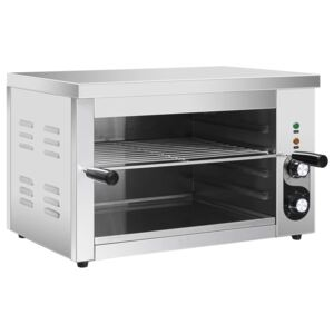 VidaXL Electric Gastronorm Salamander Grill 3000 W Stainless Steel