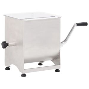 VidaXL Meat Mixer with Gear Box Silver Stainless Steel