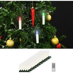 VidaXL Christmas Wireless LED Candles with Remote Control 100 pcs RGB