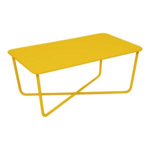 Croisette Coffee table - 99 x 57 cm / Metal by Fermob Yellow