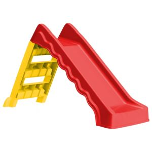 VidaXL Foldable Slide for Kids Indoor Outdoor Red and Yellow