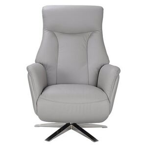 Sicily Leather Swivel Power Recliner Chair - Grey