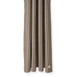 Chambray Striped Shower curtain - / 160 x H 205 cm - Coated cotton by Ferm Living Black/Beige