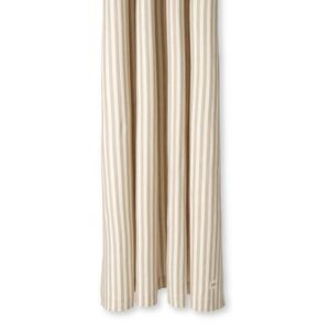 Chambray Striped Shower curtain - / 160 x H 205 cm - Coated cotton by Ferm Living Beige