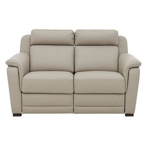 Nicoletti - Matera 2 Seater Leather Power Recliner Sofa with Pad Arms - Beige