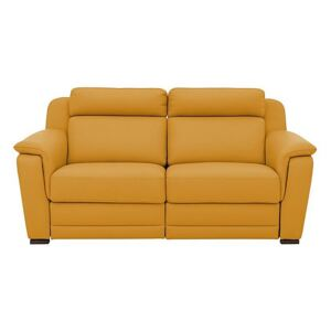 Nicoletti - Matera 3 Seater Leather Power Recliner Sofa with Pad Arms - Yellow