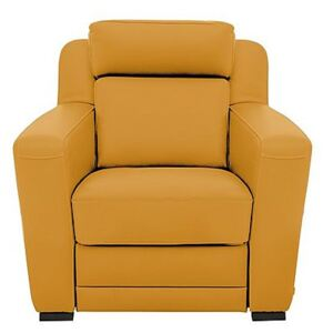 Nicoletti - Matera Leather Armchair with Box Arms - Yellow