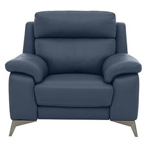 Missouri Leather Armchair - Blue- World of Leather