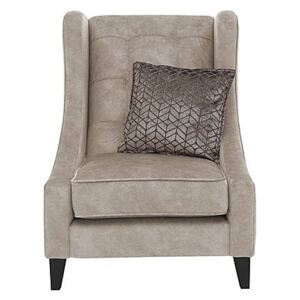 Amora Fabric Winged Accent Chair - Cream
