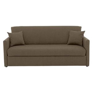 Versatile 3 Seater Fabric Sofa Bed with Slim Arms - Mink