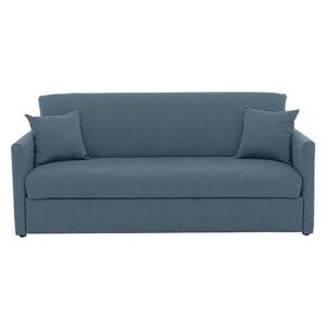 Versatile 3 Seater Fabric Sofa Bed with Slim Arms