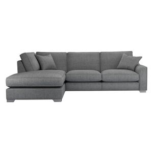 The Lounge Co. - Isobel Fabric Corner Sofa with Chaise End - Grey