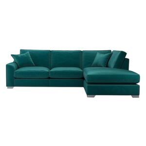 The Lounge Co. - Isobel Fabric Corner Sofa with Chaise End - Teal