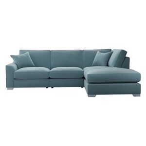 The Lounge Co. - Isobel Fabric Corner Sofa with Chaise End - Blue