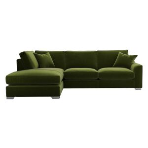The Lounge Co. - Isobel Fabric Corner Sofa with Chaise End - Green