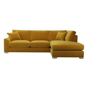 The Lounge Co. - Isobel Fabric Corner Sofa with Chaise End - Yellow