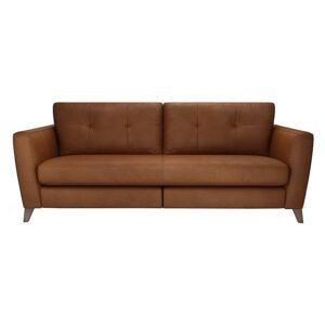 The Lounge Co. - Hermione 4 Seater Leather Sofa - Brown