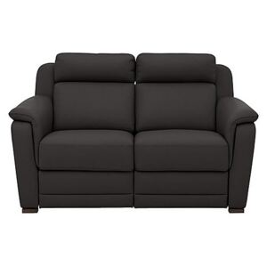 Nicoletti - Matera 2 Seater Leather Power Recliner Sofa with Pad Arms - Brown