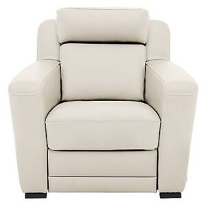 Nicoletti - Matera Leather Armchair with Box Arms - Cream