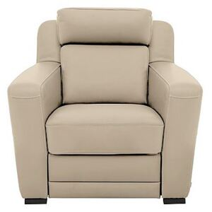 Nicoletti - Matera Leather Armchair with Box Arms - Beige