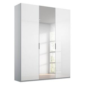 Rauch - Formes Glass 3 Door Hinged Wardrobe with 1 Mirror - White