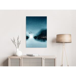 Canvas Print In the Moonlight: Flight at Dawn (1 Part) Vertical