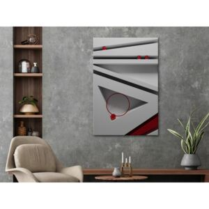 Canvas Print Abstract: Sloping Structure (1 Part) Vertical