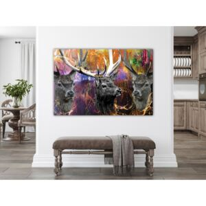 Canvas Print Abstract: Three Brothers (1 Part) Wide