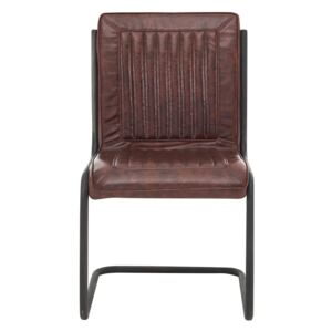 Fire Faux Leather Dining Chair - Brown