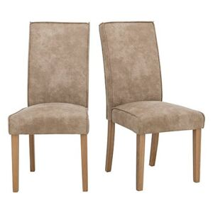 Furnitureland - California Pair of Faux Suede Dining Chairs