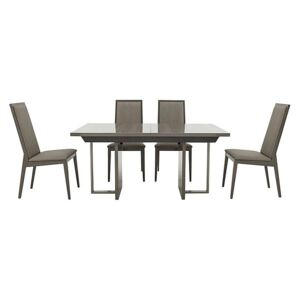 ALF - Movado Extending Dining Table and 4 Dining Chairs - 210-cm - Grey