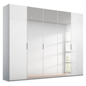 Rauch - Formes Glass 5 Door Hinged Wardrobe with 3 Mirrors - White