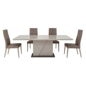 ALF - Alpine Dining Table and 4 Dining Chairs - Beige