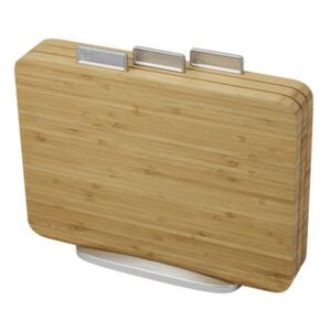 Index Chopping board - Bamboo / Set of 3 + stand by Joseph Joseph Natural wood