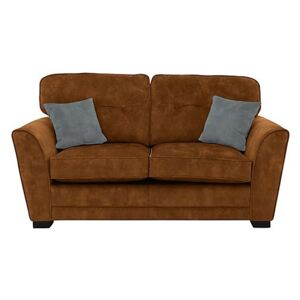 Nelly 2 Seater Fabric Sofa Bed Handcrafted in the UK - Orange