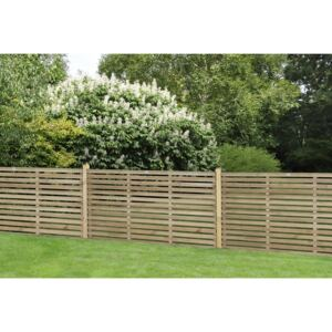 Contemporary Single Slated 3ft Fence Panel - 1.8mx0.9m - 3 Pack